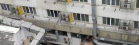 南京一公寓局部坍塌 坍塌的建筑物中自救_快看_中原网视台